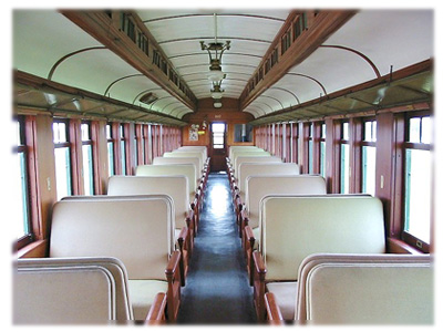 Coach 107 interior